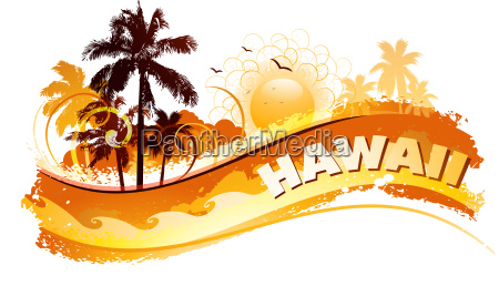 tropikalne hawaje tlo