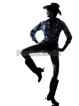 woman cow girl dancer happy dancing