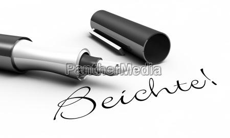 spowiedz concept pen
