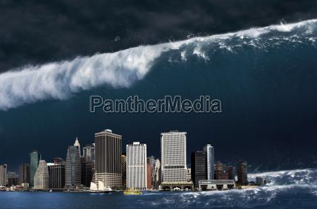 wielkolud fala katastrofa gigant apokalipsa apokaliptyczny