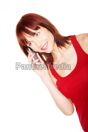 attractive girl talking on mobile