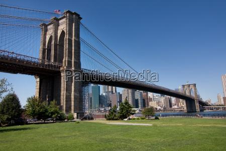 pomost usa steg skyline brooklyn mainhattan