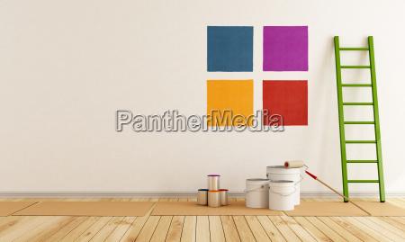 wybierz probke koloru malowac sciany