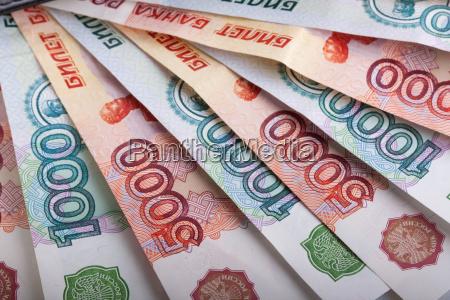 rosyjski tysiac rubli banknoty