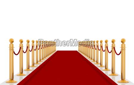 czerwona cartpet