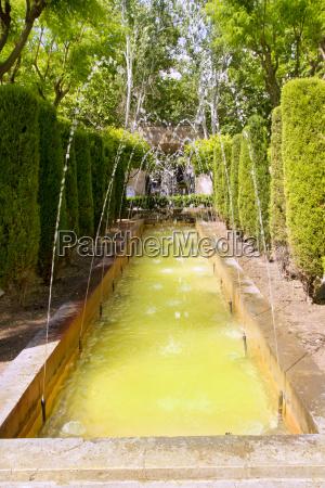 fontaine of hort del rei gardens