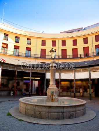 plaza redonda in valencia downtown square