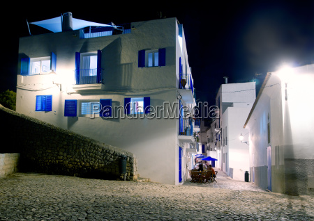 ibiza island white houses in the
