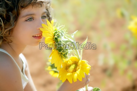 beautiful little girl in a summer