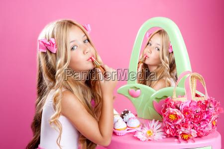 children fashion doll little girl lipstick