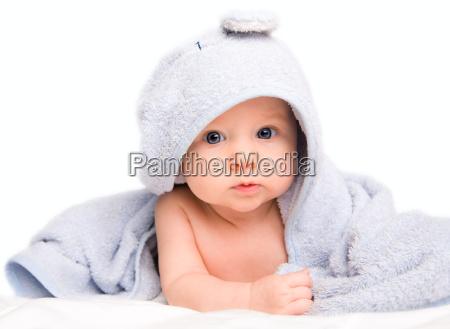 baby in bath towel