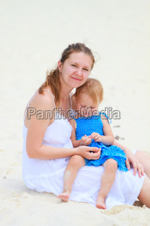 young mother and her daughter at