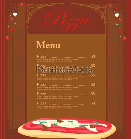 szablon menu pizzy