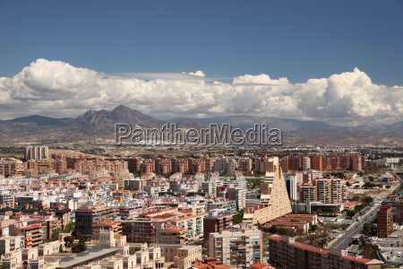 view over the city of alicante