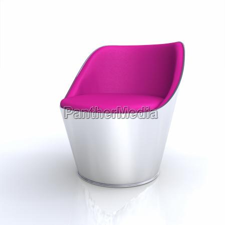 krzeslo designerskie pojedyncze rozowe srebro