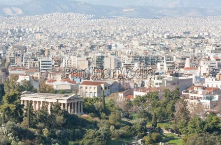 ateny grecja miasto widok pejzaz architektura