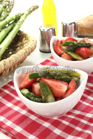 asparagus salad with strawberries salt and