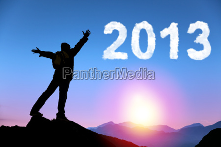 happy new year 2013 young man
