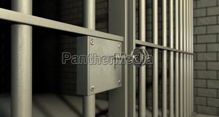 blokada drzwi komorki wiezienia