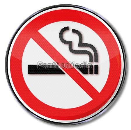 znak zakazu zakaz palenia