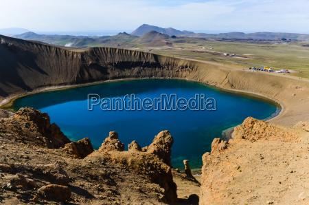 viti krater wulkaniczny krafla obszaruislandii