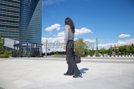 businesswoman at business square