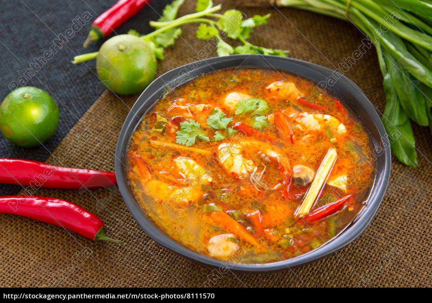 tajski, kwaśny, i, pikantny, zupa, krezowa - 8111570
