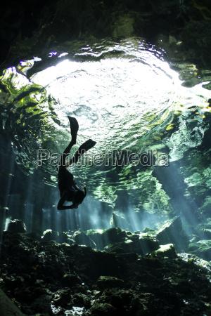 jazda podrozowanie jaskinia podwodne przygoda meksyk