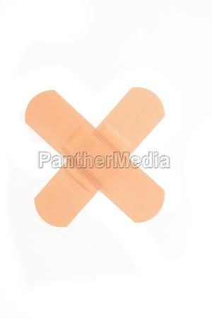 krzyz plaster opatrunek bandaz trzymac sie