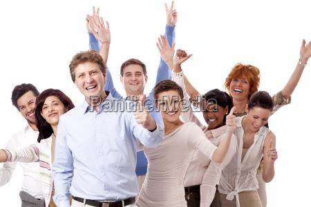 mloda grupa ludzi biznesu z ludzmi