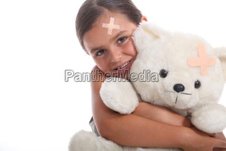 mloda dziewczyna i jej mis zarowno