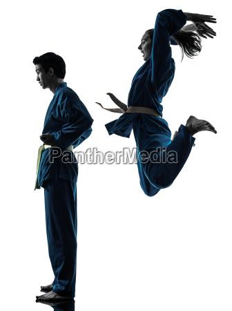 karate vietvodao sztuk walki mezczyzna kobieta