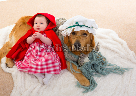 baby little red riding hood with