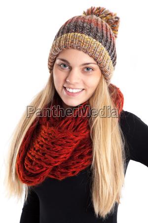pretty woman z welnisty kapelusz