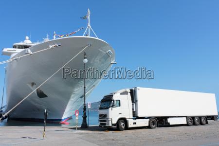 ruch drogowy transport zegluga port porty