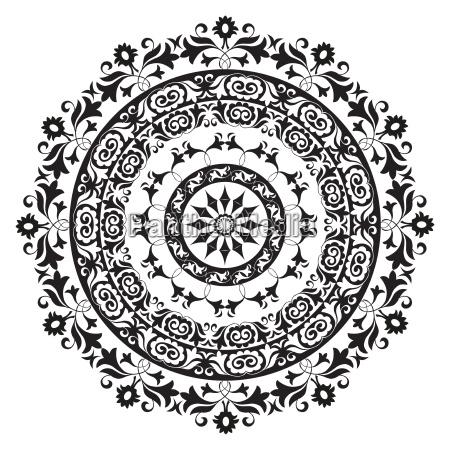 ornament ilustracja orientalne okolnik wektor strzaly
