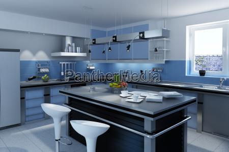 niebieski nowoczesne nowoczesna kuchnia kuchene kuchni
