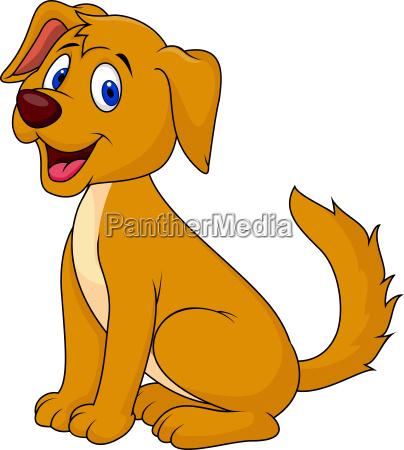 wytnij pies cartoon siedzi