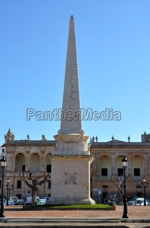 obelisk in ciutadella menorca