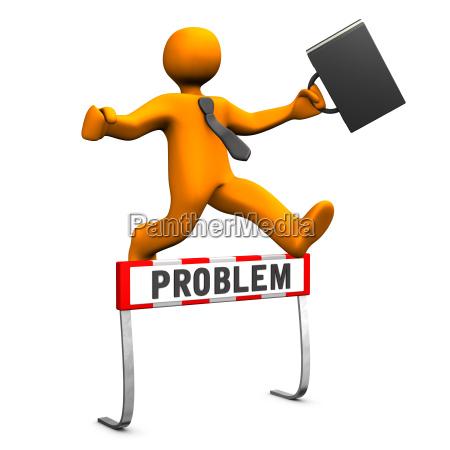 businessman steeplechase problem