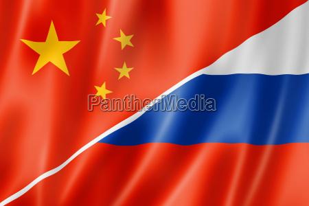 chiny i rosja flag