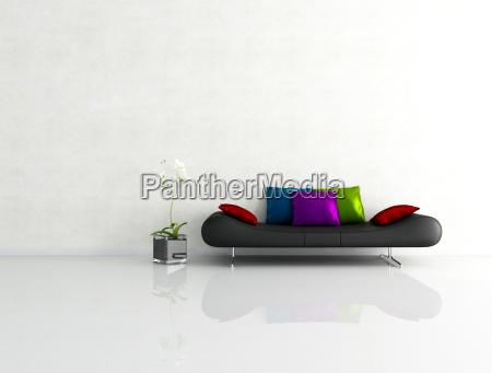 plaster mur poduszki minimalistyczny kopiec poduszka