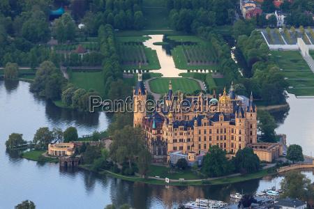 schwerin castle from above