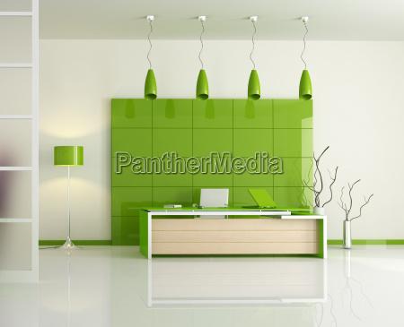 nowoczesny biurowiec zielone
