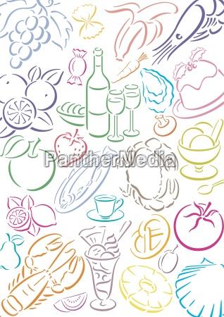gastronomia symbole jadlospis projekt formgebung webdesign