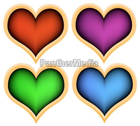 opcjonalne kolorowe kolektora kolor serca plastycznie