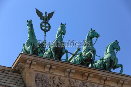 quadriga at the brandenburg gate