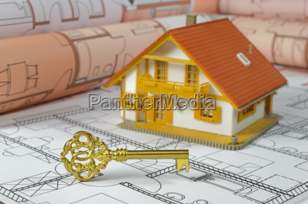 architect plan and model house and
