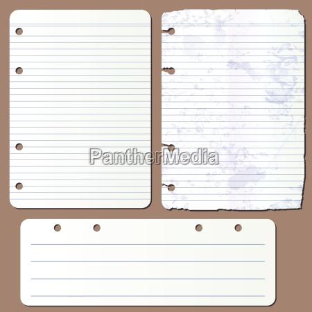 strony wektorowe z notatnika