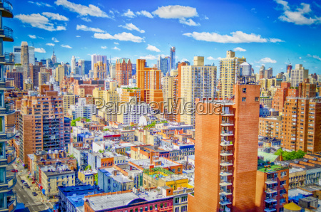 new york city aerial view of